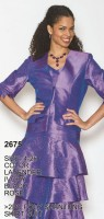 Lily and Taylor 2675 Womens Poly Shantung Suit image