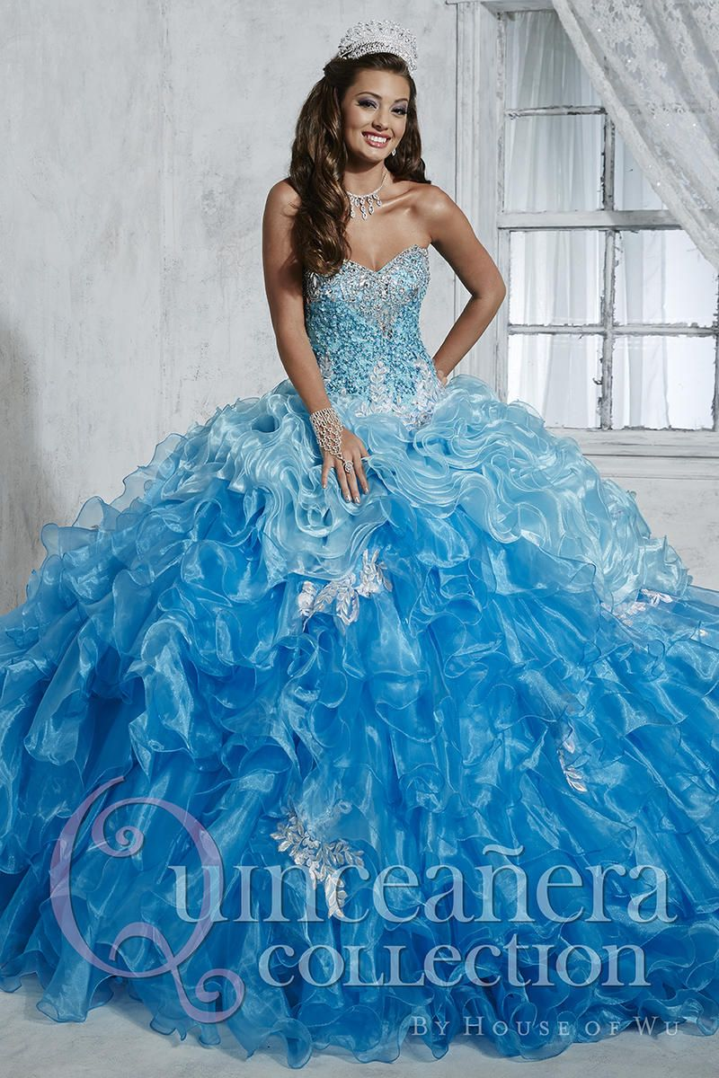 House Of Wu 26785 Ombre Ruffled Quinceanera Dress French