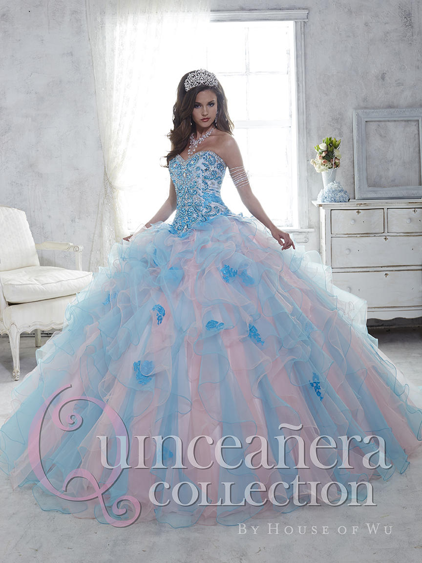 1c10f0765 House of Wu 26802 Colorful Ruffle Quinceanera Dress  French Novelty