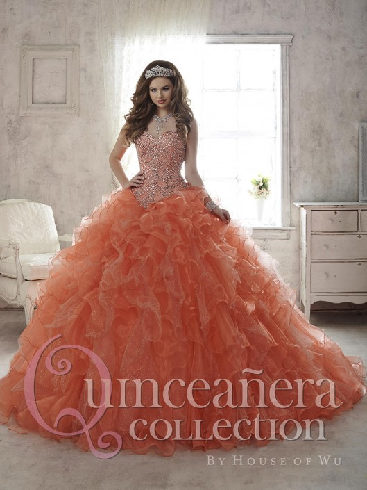 278a51c441e House of Wu 26805 Ruffle Quinceanera Ball Gown  French Novelty