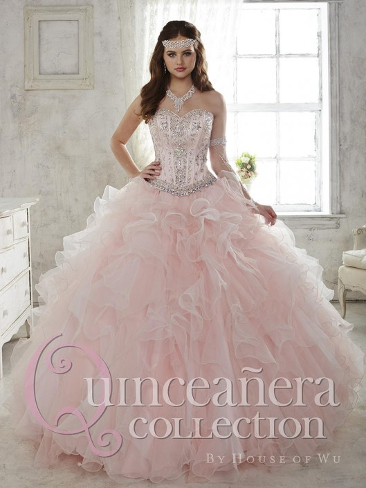 fa0df8fc2e House of Wu 26811 Quinceanera Dress with Removable Ball Skirt  French  Novelty