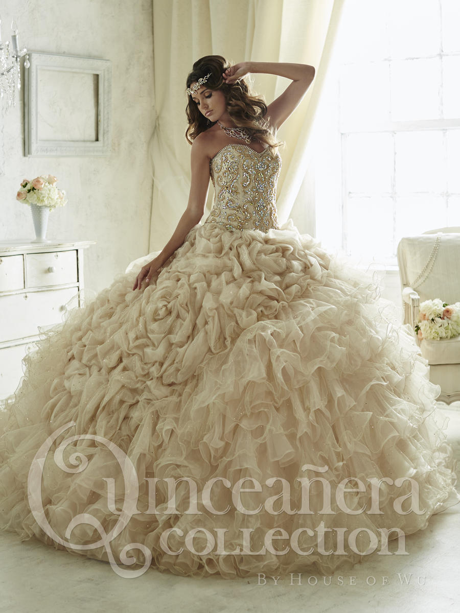 House of Wu 26816 Layered Ruffle Quinceanera Gown French