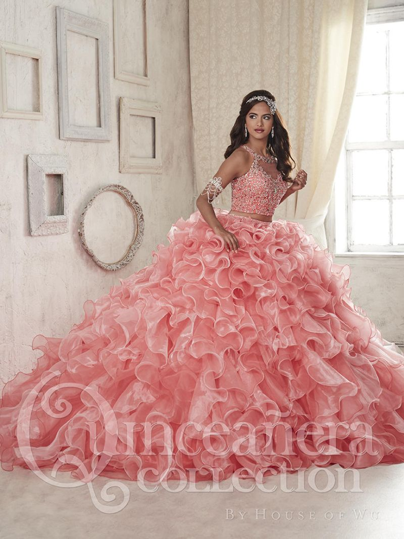 5c09d2b79f House of Wu 26830 Two Piece Ruffle Quinceanera Dress  French Novelty