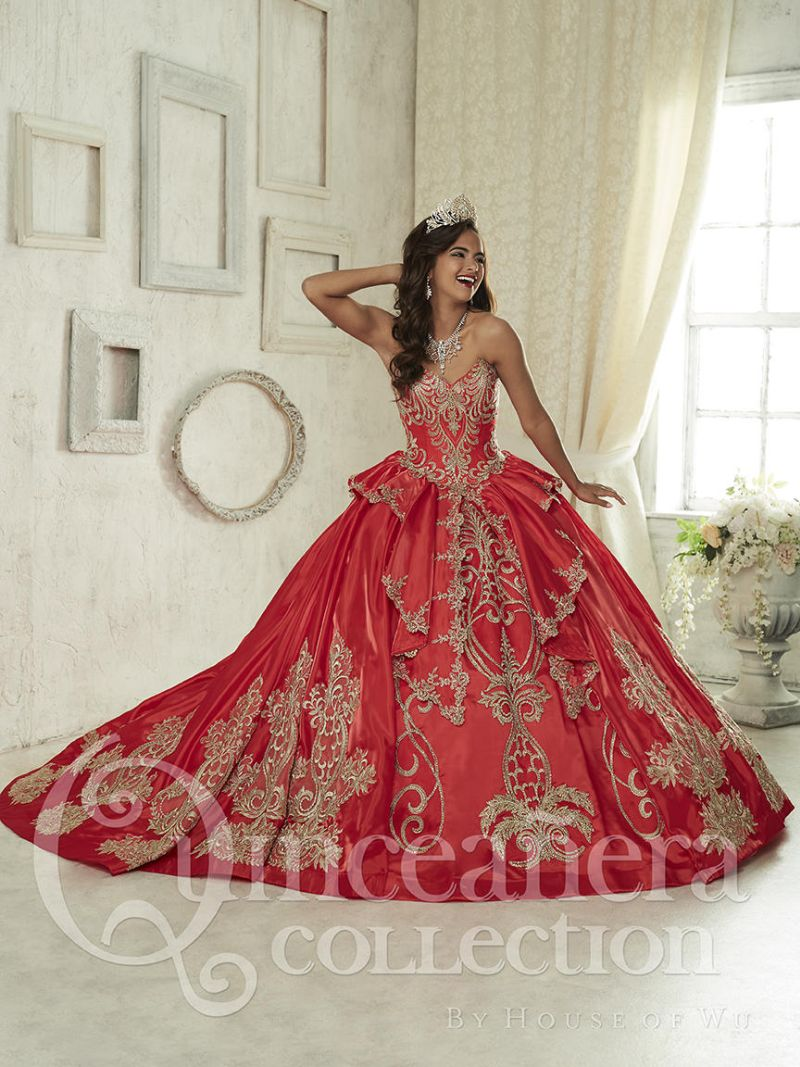 house of wu 26842 double skirt quinceanera dress french
