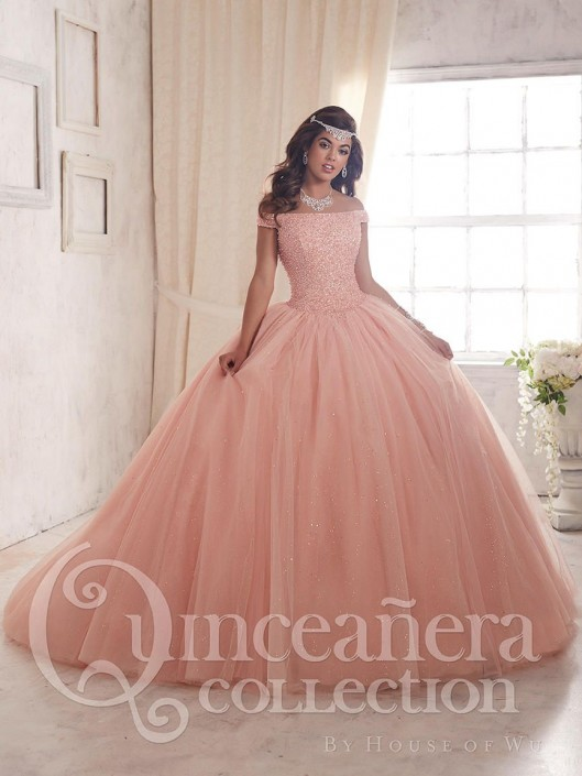 0a4354d6163 House of Wu 26844 Glimmering Tulle Quinceanera Dress  French Novelty