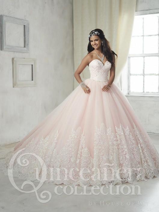 b9b35d9d9b House of Wu 26852 Royal Hem Lace Quinceanera Dress  French Novelty