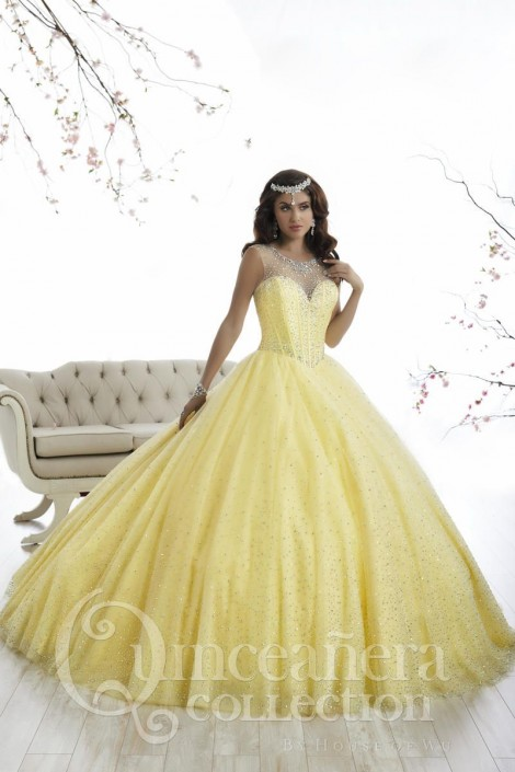 0aaa712ed97 Quinceanera by House of Wu 26866 Sparkling Ball Gown  French Novelty