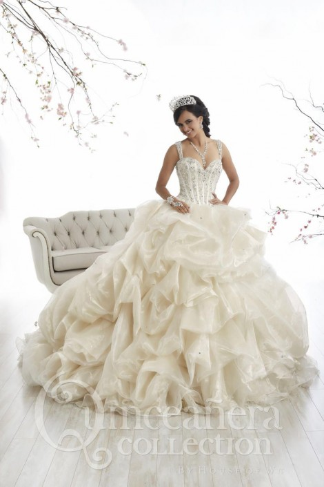d6390e4e27 House of Wu 26868 Jeweled Quinceanera Dress  French Novelty