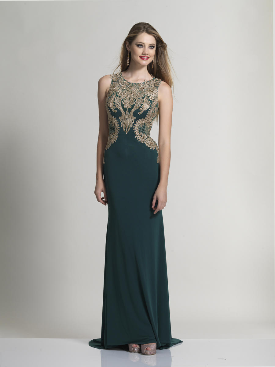 Dave and johnny 2687 beaded embroidered jersey gown for Von maur wedding dresses