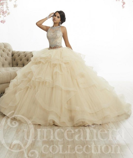5950f89c481 House of Wu 26882 Ruffle 2 Piece Quinceanera Dress  French Novelty