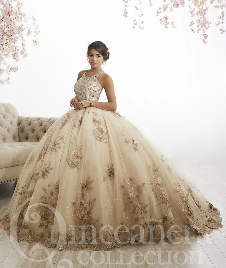 House of Wu 26884 Metallic Quinceanera Dress: French Novelty