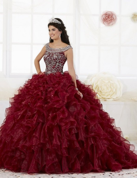 c2a90c2292b House of Wu 26897 Beaded Ruffle Quinceanera Dress  French Novelty
