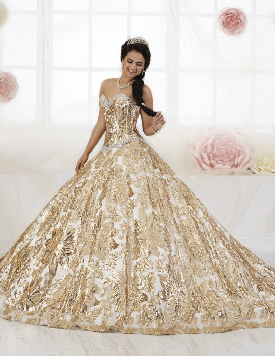 84083446a2 House of Wu 26909 Floral Sequin Quinceanera Dress  French Novelty