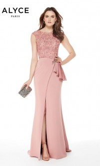 e073265c82 Alyce 27024 Lace and Stretch Crepe Mothers Gown