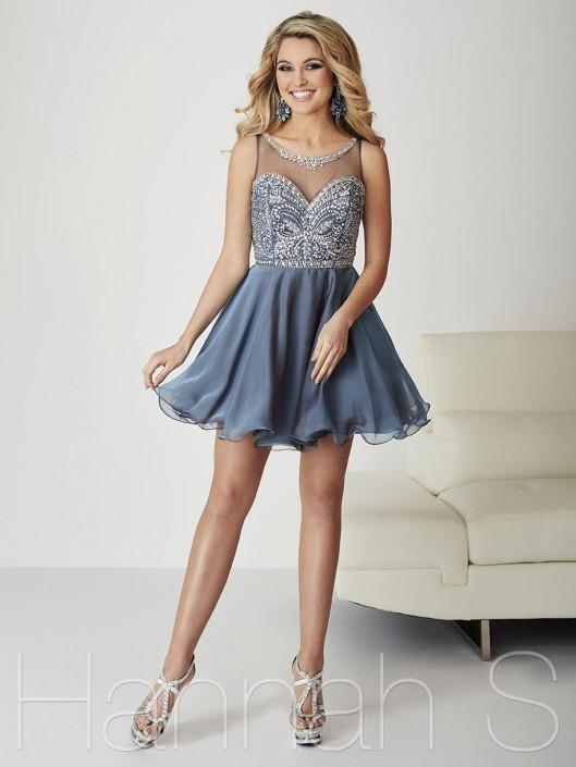 Hannah S 27100 Classy Short Homecoming Dress: French Novelty
