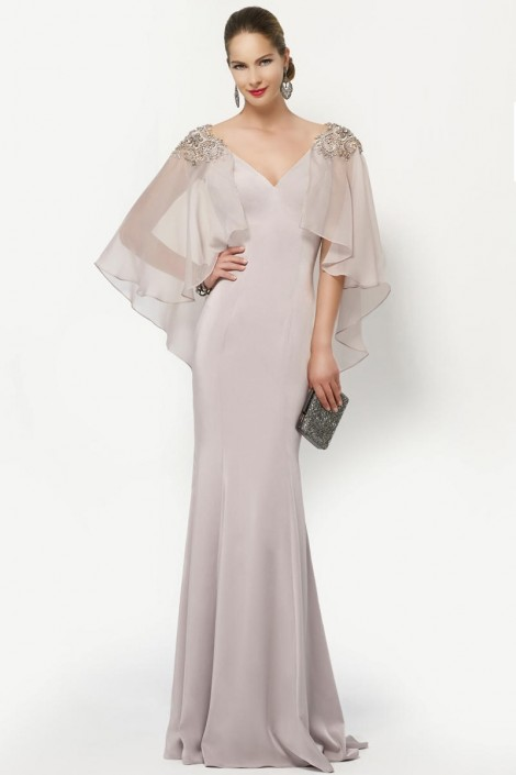 Alyce 27170 JDL Classy MOB Gown with Flowy Sleeves: French Novelty