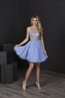 3b57cb92f0d Tiffany 27210 Sheer Beaded Short Party Dress