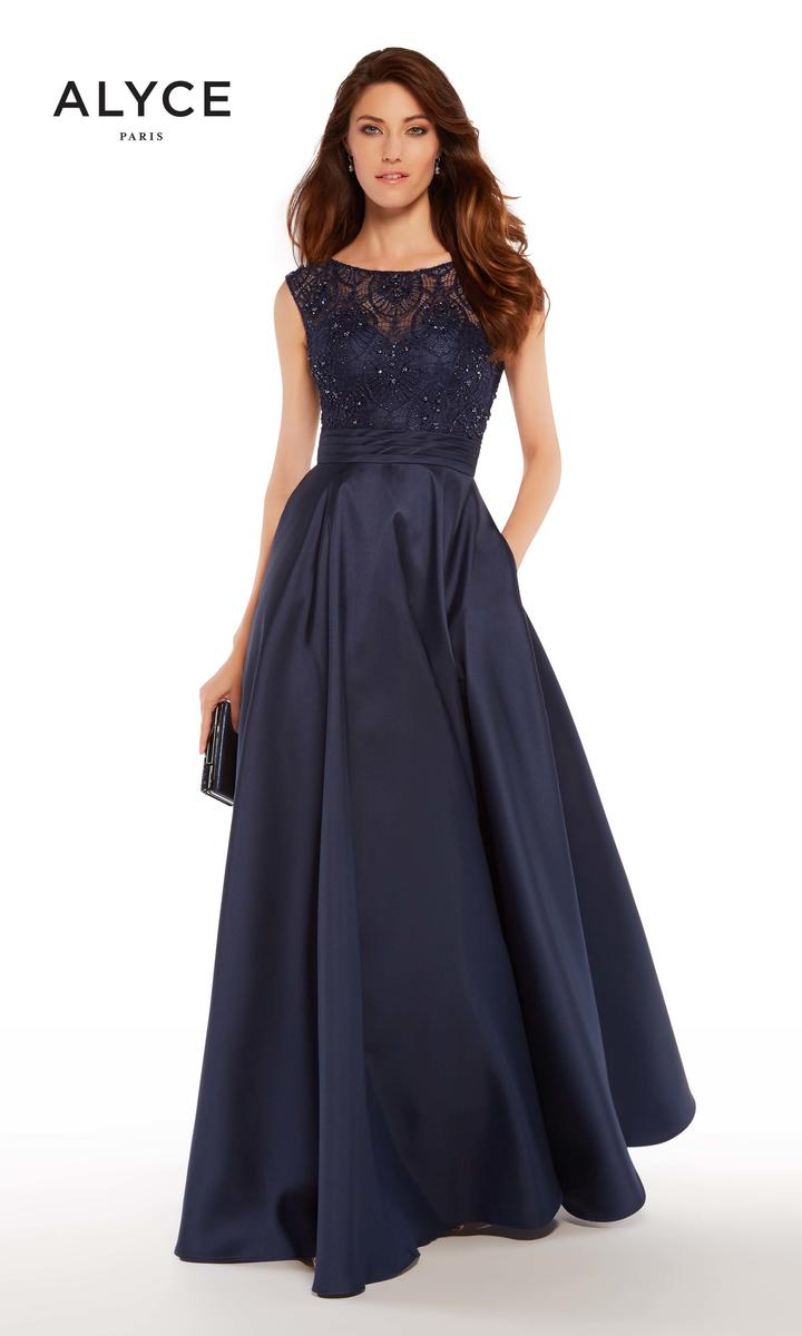 Alyce 27243 Evening Dress With Pockets French Novelty
