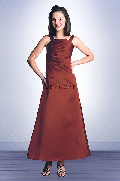 a80539fad27 Bill Levkoff Euro Satin Junior Bridesmaids Dress 27602  French Novelty