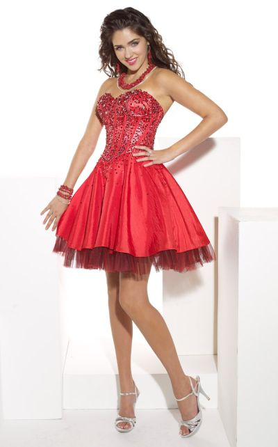 Hannah S Short Beaded Corset Prom Party Dress 27603: French Novelty