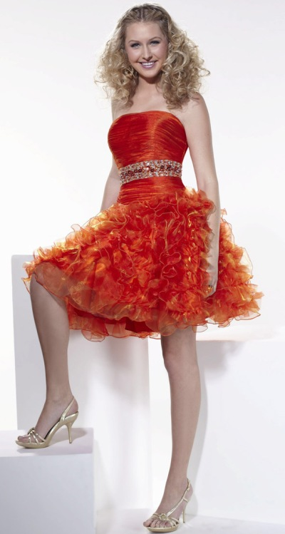 Collection Orange Party Dress Pictures - Reikian