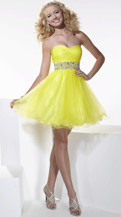 Hannah S Strapless Tulle Short Party Dress 27666 by House of Wu ...