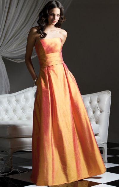 Tea Length Silk Shantung Dessy Bridesmaid Dress 2769