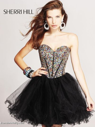 Short Jeweled Prom Dress
