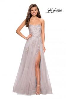 c4dffce2 La Femme 27803 Beautiful Tulle Prom Dress