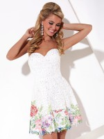 Hannah S 27885 Painted Lace Short Party Dress image