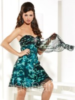Hannah S 27886 Painted Chiffon Short Party Dress image