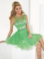 Hannah S 27891 Sparkle Tulle Short Party Dress image