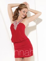 Hannah S 27894 Short Blouson Dress image