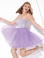 Hannah S 27897 Sparkle Tulle Short Homecoming Dress image