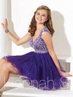 Hannah S 27907 Cap Sleeve Short Party Dress image