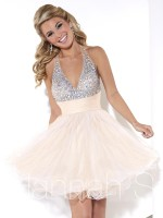 Hannah S 27915 Halter Short Party Dress image