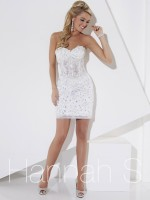 Hannah S 27917 Cracked Ice Tulle Short Dress image