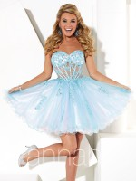 Hannah S 27921 Lace and Tulle Short Dress image