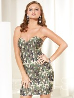 Size 6 Safari Camo Hannah S 27922 Cocktail Dress image