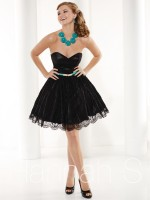 Hannah S 27923 Lace Short Party Dress image