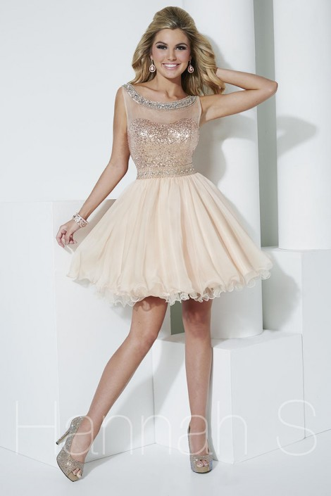 Hannah S 27955 Elegant Classy Short Party Dress: French Novelty