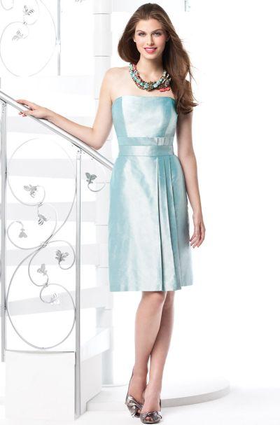 Tail Length Dessy Silk Shantung Bridesmaid Dress 2814