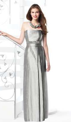 Dessy Strapless Silk Shantung Long Bridesmaid Dress 2815