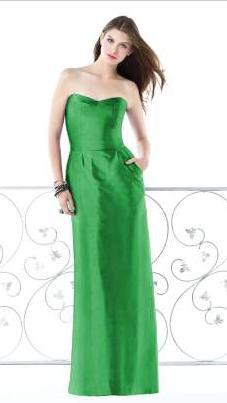 Silk Shantung Strapless Dessy Long Bridesmaid Dress 2817