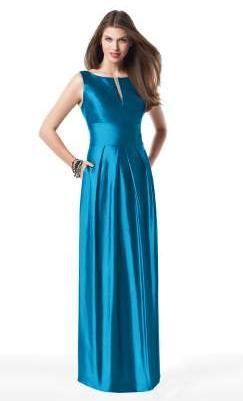 Sleeveless Dessy Collection Silk Shantung Long Bridesmaid Dress 2819
