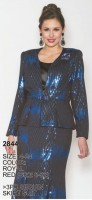 Lily and Taylor 2844 Womens 3pc Sequin Suit image