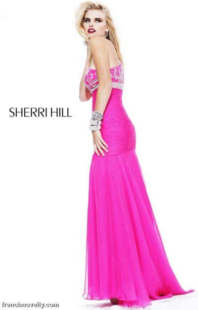 Sherri Hill Fuchsia Long Prom Dress with Beading 2847: French Novelty