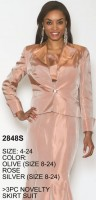 Lily and Taylor 2848 Womens Novelty Church Suit image