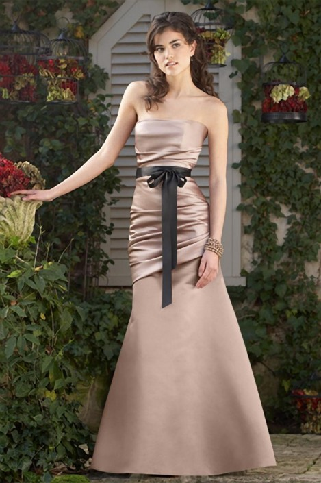 dcf5bbea3497 Wtoo 288 Duchess Satin Trumpet Bridesmaid Gown: French Novelty