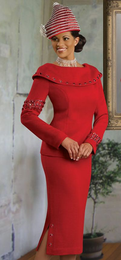 Donna Vinci Knits 2882 Womens Church Suit French Novelty